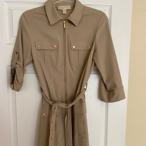 Michael Kors tan belted dress size small.